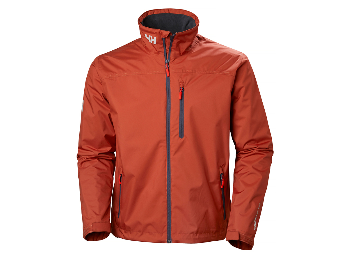 Helly Hansen CREW MIDLAYER JACKET - RED BRICK - XS (30253_199-XS )