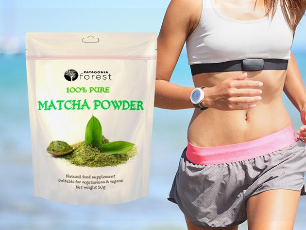 Étrend-kiegészítő: 100% tisztaságú Matcha tea por, mely energetizál és elősegíti a fogyást (50g)