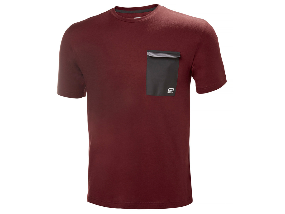Helly Hansen LOMMA T-SHIRT - OXBLOOD - M (62857_215-M )
