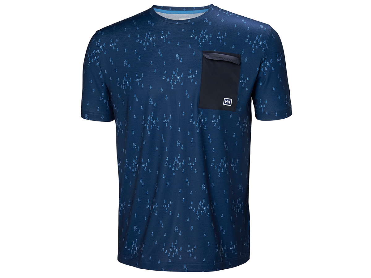 Helly Hansen LOMMA T-SHIRT - CATALINA BLUE PRINT - XXL (62857_541-2XL )
