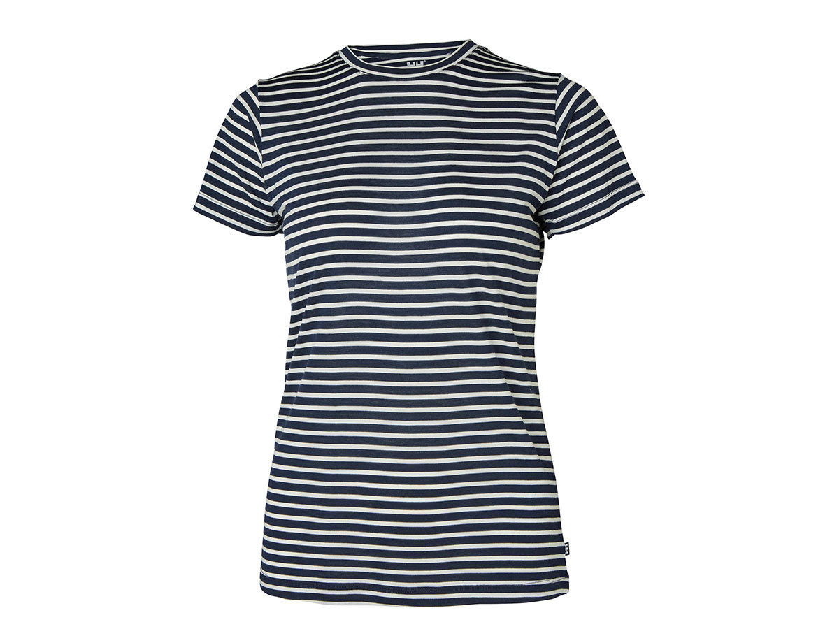 Helly Hansen W HH MERINO GRAPHIC T-SHIRT - NAVY STRIPE - L (49323_597-L )