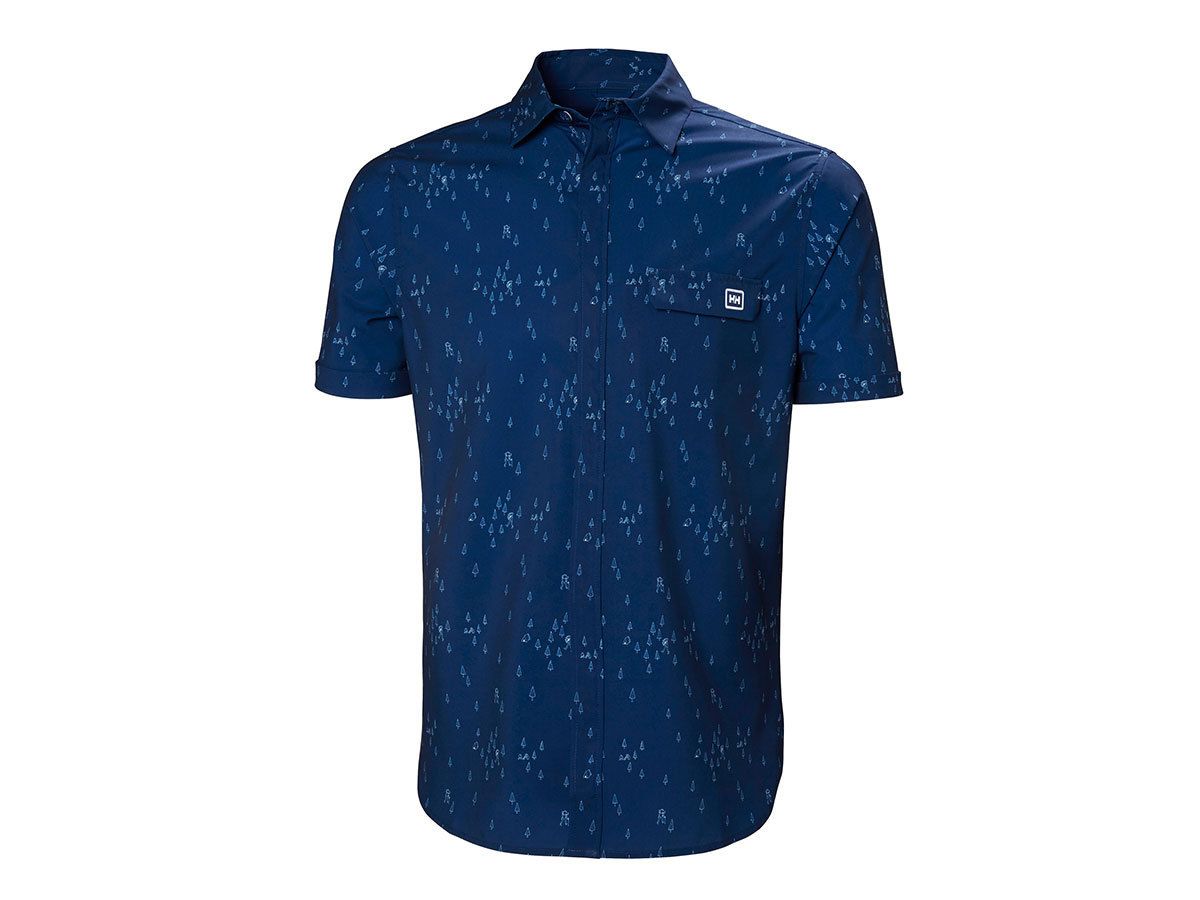 Helly Hansen OYA SS SHIRT - CATALINA BLUE PRINT - L (62854_541-L )