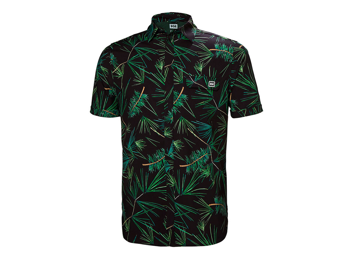 Helly Hansen OYA SS SHIRT - EBONY/PRINT - XL (62854_980-XL )