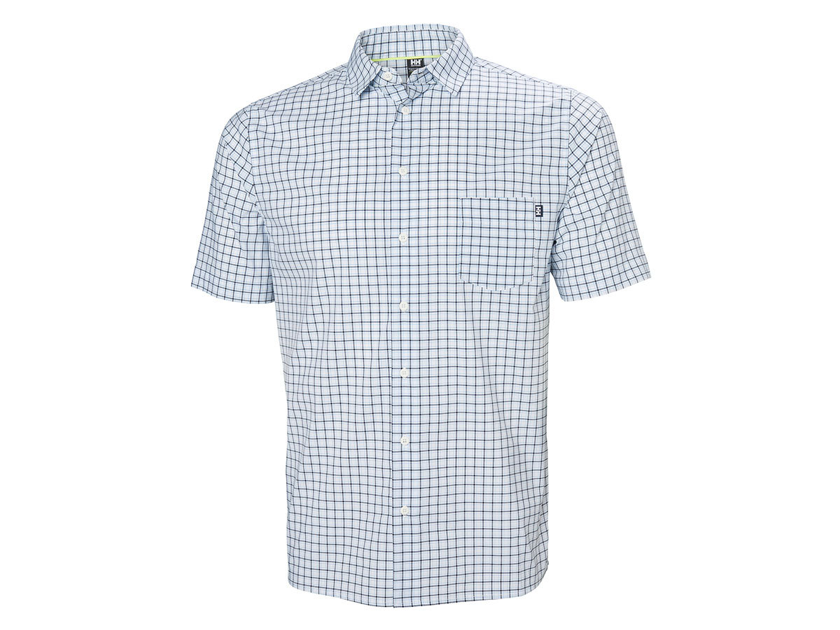 Helly Hansen FJORD QD SS SHIRT - WHITE CHECK - L (34048_001-L )