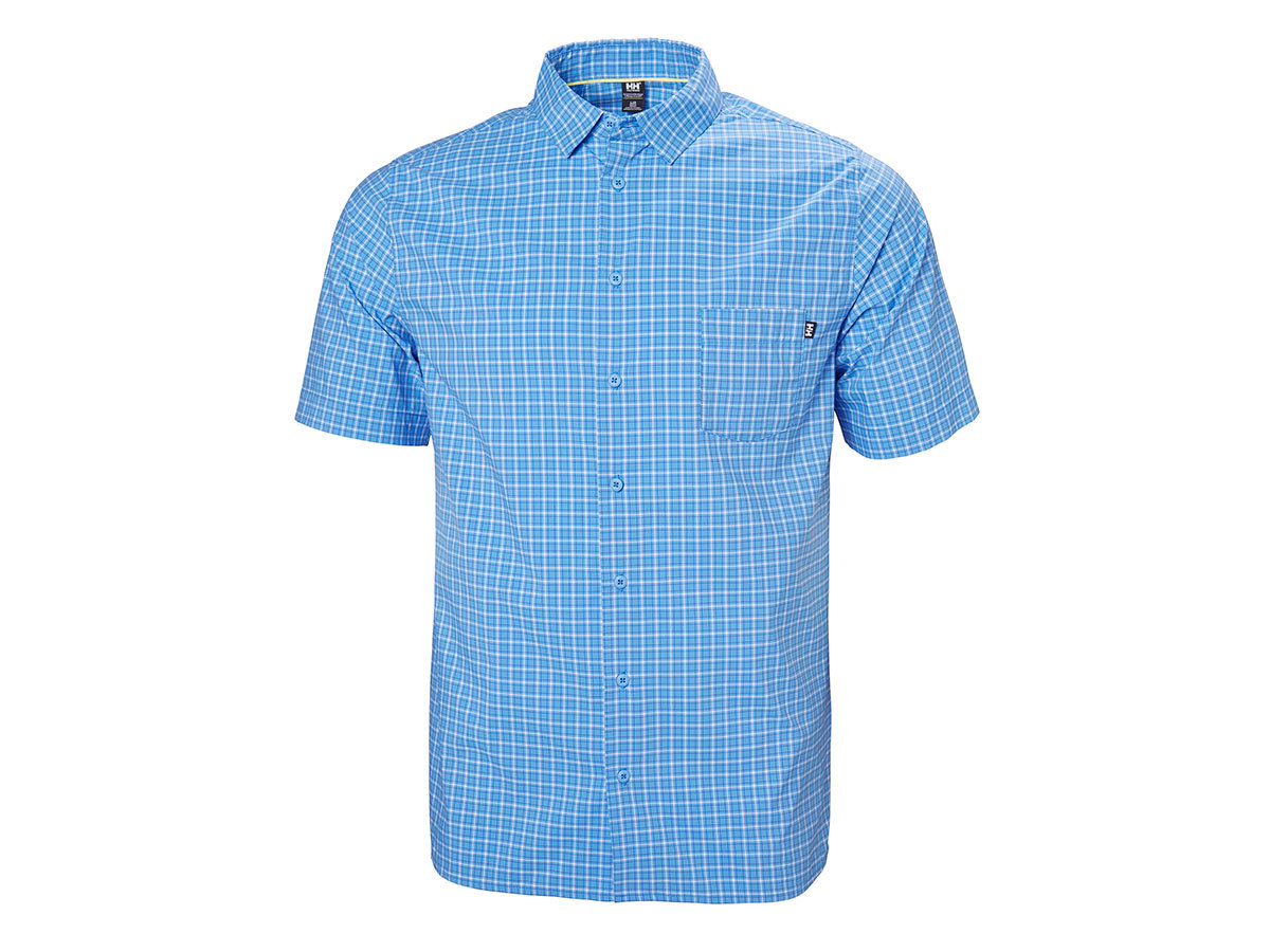 Helly Hansen FJORD QD SS SHIRT - CORNFLOWER CHECK - M (34048_509-M )