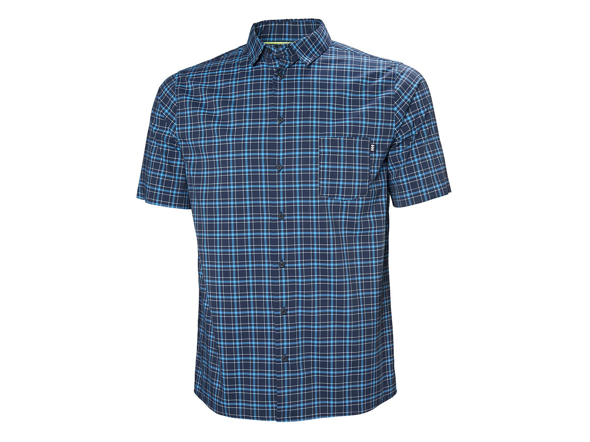 Helly Hansen FJORD QD SS SHIRT - NAVY CHECK - L (34048_597-L )