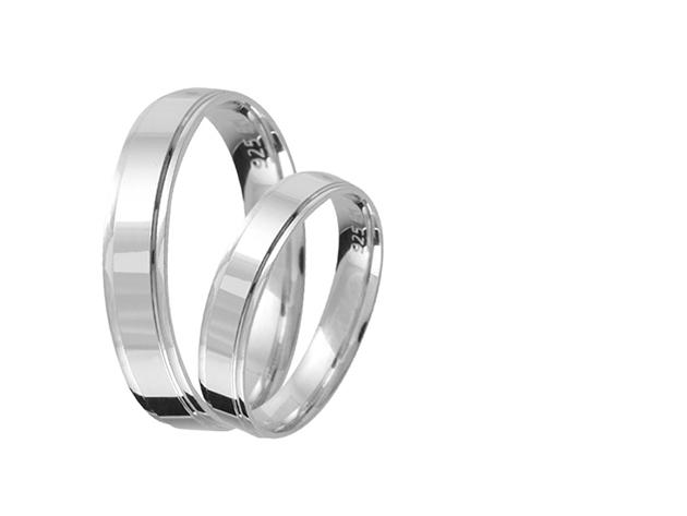 Valentin Napi Ezüst karikagyűrű pár E010-es (2 db)