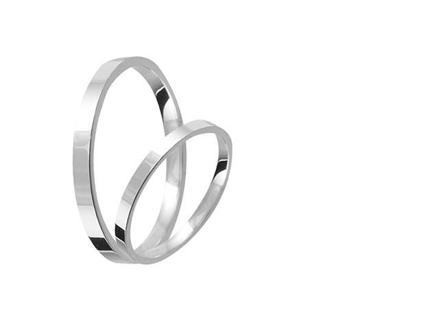 Valentin Napi Ezüst karikagyűrű pár E015-es (2 db)