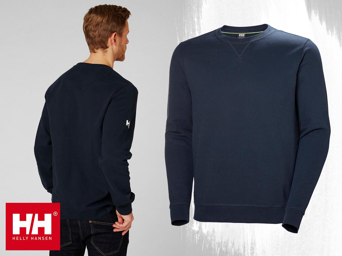 Helly Hansen CREW SWEATSHIRT férfi pulóver 100% pamut anyagból (S-XXL) - TEAM változat, logózható