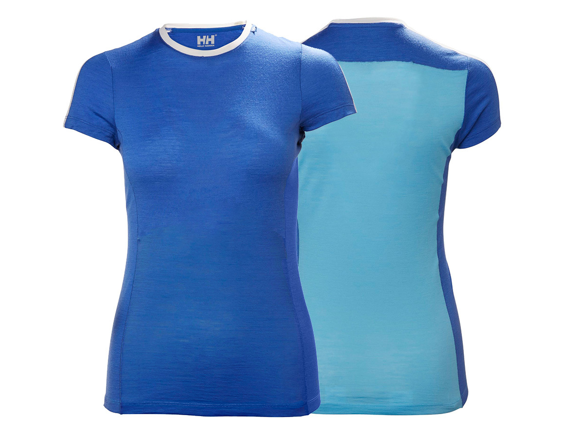 Helly Hansen W HH MERINO LIGHT T-SHIRT - AQUA BLUE - XL (48367_518-XL )