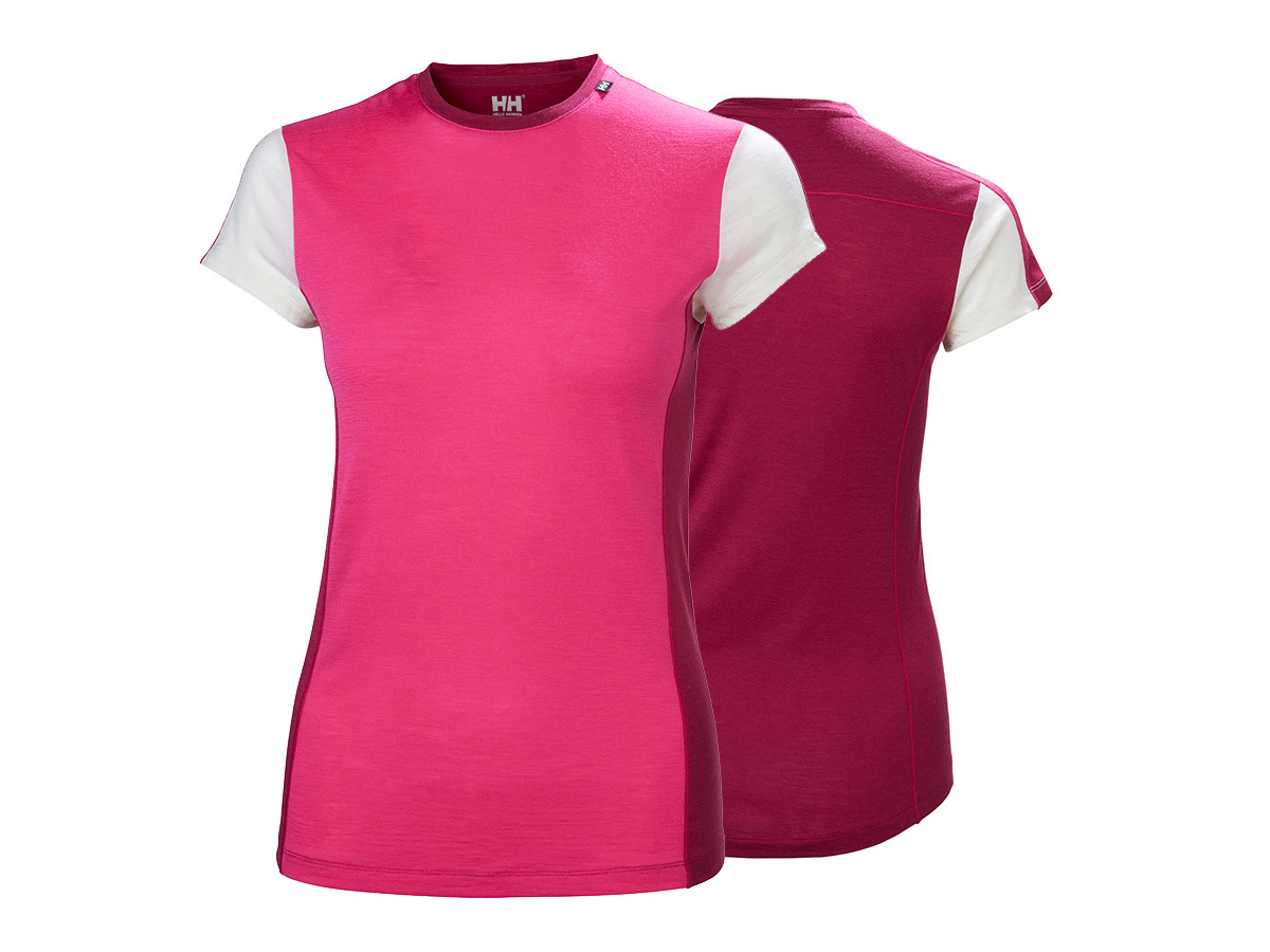 Helly Hansen W HH MERINO LIGHT T-SHIRT - DRAGON FRUIT - XS (48367_181-XS )