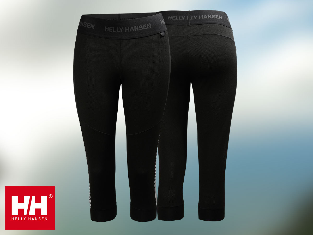 Helly Hansen W HH LIFA LIGHT 3/4 BOOT TOP P női edző leggings - Lifa® Stay Warm technológia, mely szárazon tartja bőröd (XS-M)