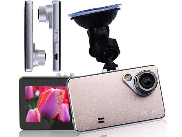 Autós eseményrögzítő kamera: erős, fémes hatású ház, nagylátószög, kompakt kivitel...
