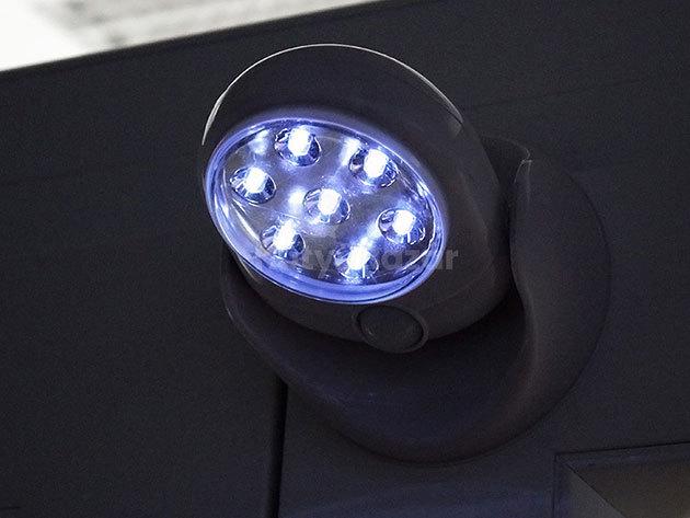 Mozgásérzékelős LED lámpa, reflektor - falra szerelhető, 360 fokban forgatható, szuper fényes