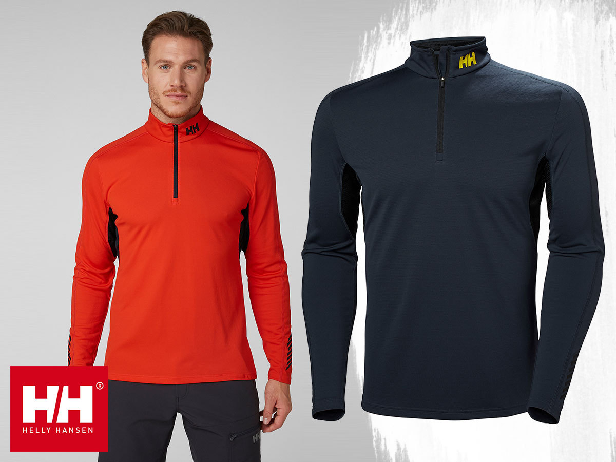HH LIFA ACTIVE MESH 1/2 ZIP férfi aláöltözet LIFA® Actives technológiával, szellőzőpanelekkel - szárazon tartja bőröd