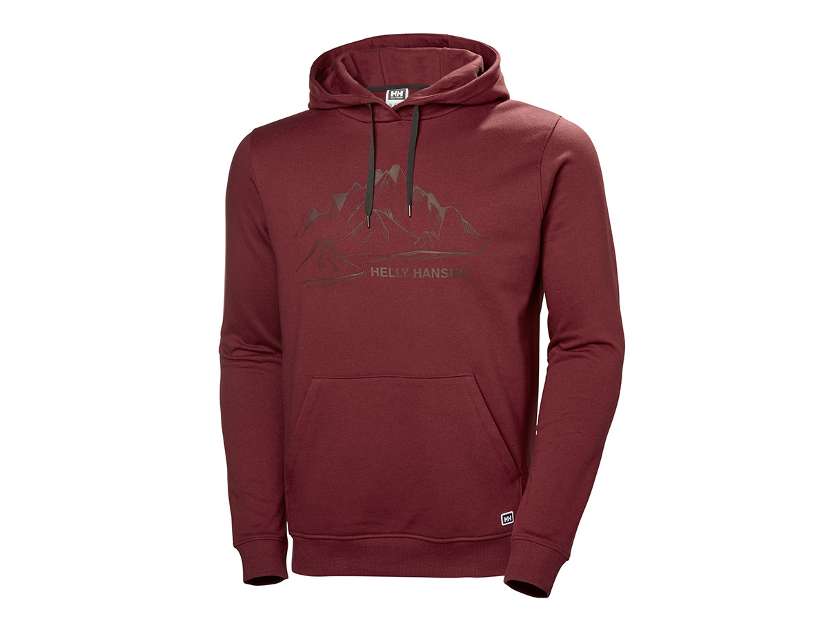 Helly Hansen F2F COTTON HOODIE - OXBLOOD - XXL (62934_215-2XL )