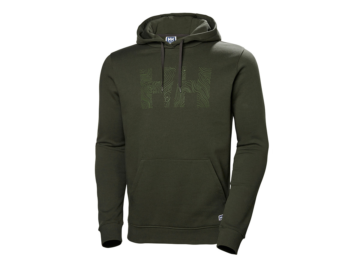 Helly Hansen F2F COTTON HOODIE - FOREST NIGHT - XXL (62934_469-2XL )