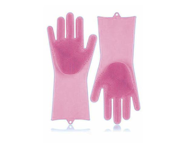 Szilikon mosogató kesztyű HOP1000974-2 rózsaszín