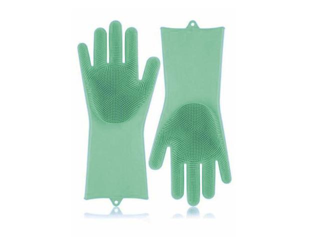 Szilikon mosogató kesztyű HOP1000974-3 zöld