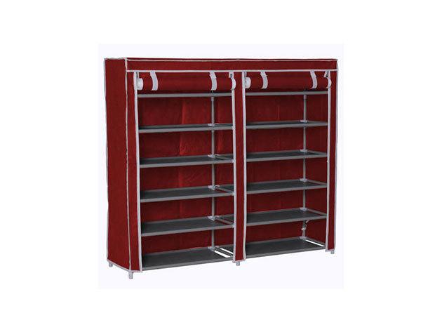 Mobil cipőtároló szekrény HOP1000975-2 - piros