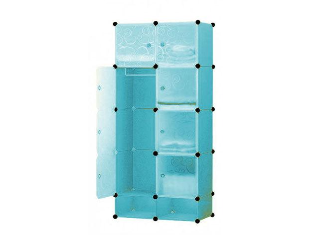 Műanyag elemes szekrény HOP1000976-1 kék
