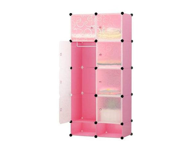 Műanyag elemes szekrény HOP1000976-4 pink