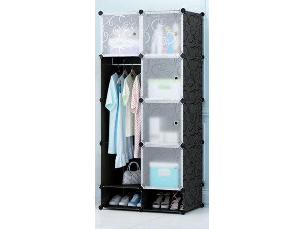 Műanyag elemes szekrény HOP1000976-2 fekete