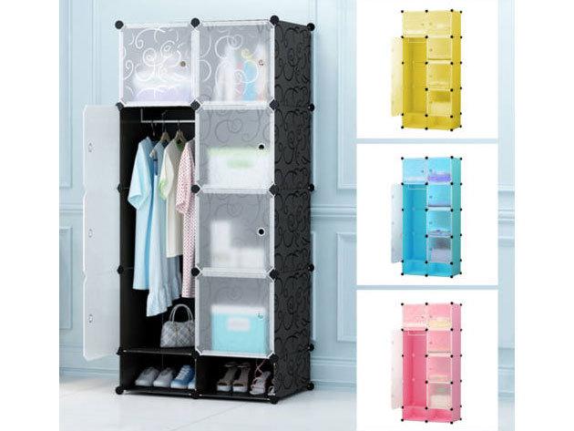 Műanyag elemes szekrény, 4 színben - gardróbba, öltözőbe, gyerekszobába alkalmas