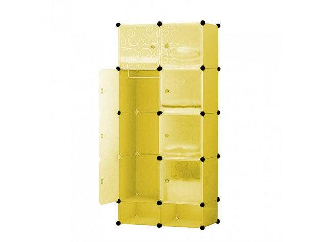 Műanyag elemes szekrény HOP1000976-3 citromsárga