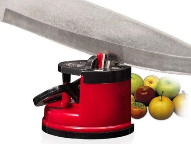 Késélező tapadókorongokkal - helytakarékosan tárolható, kiváló kések, ollók, fejszék élezésére