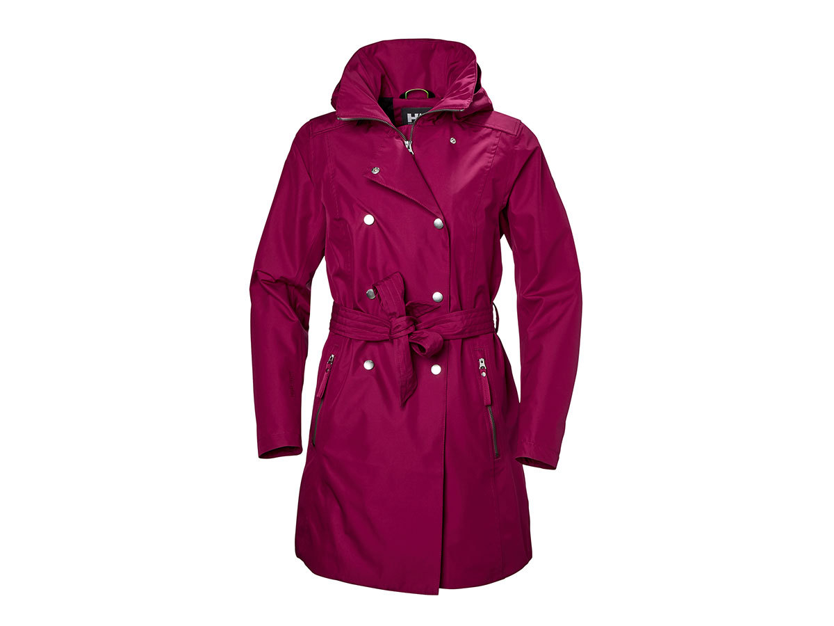 Helly Hansen W WELSEY II TRENCH - PLUM - S (53247_655-S )