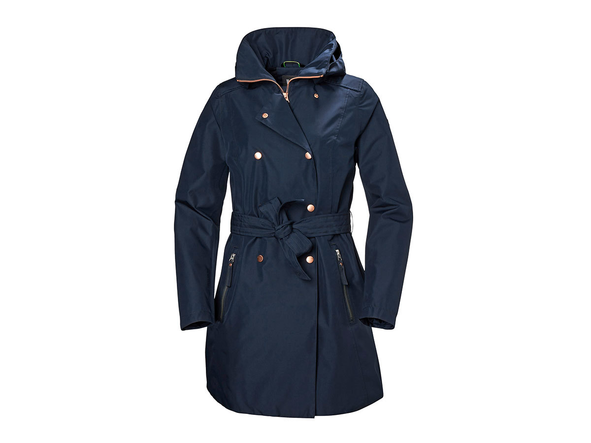 Helly Hansen W WELSEY II TRENCH - NAVY - L (53247_598-L )