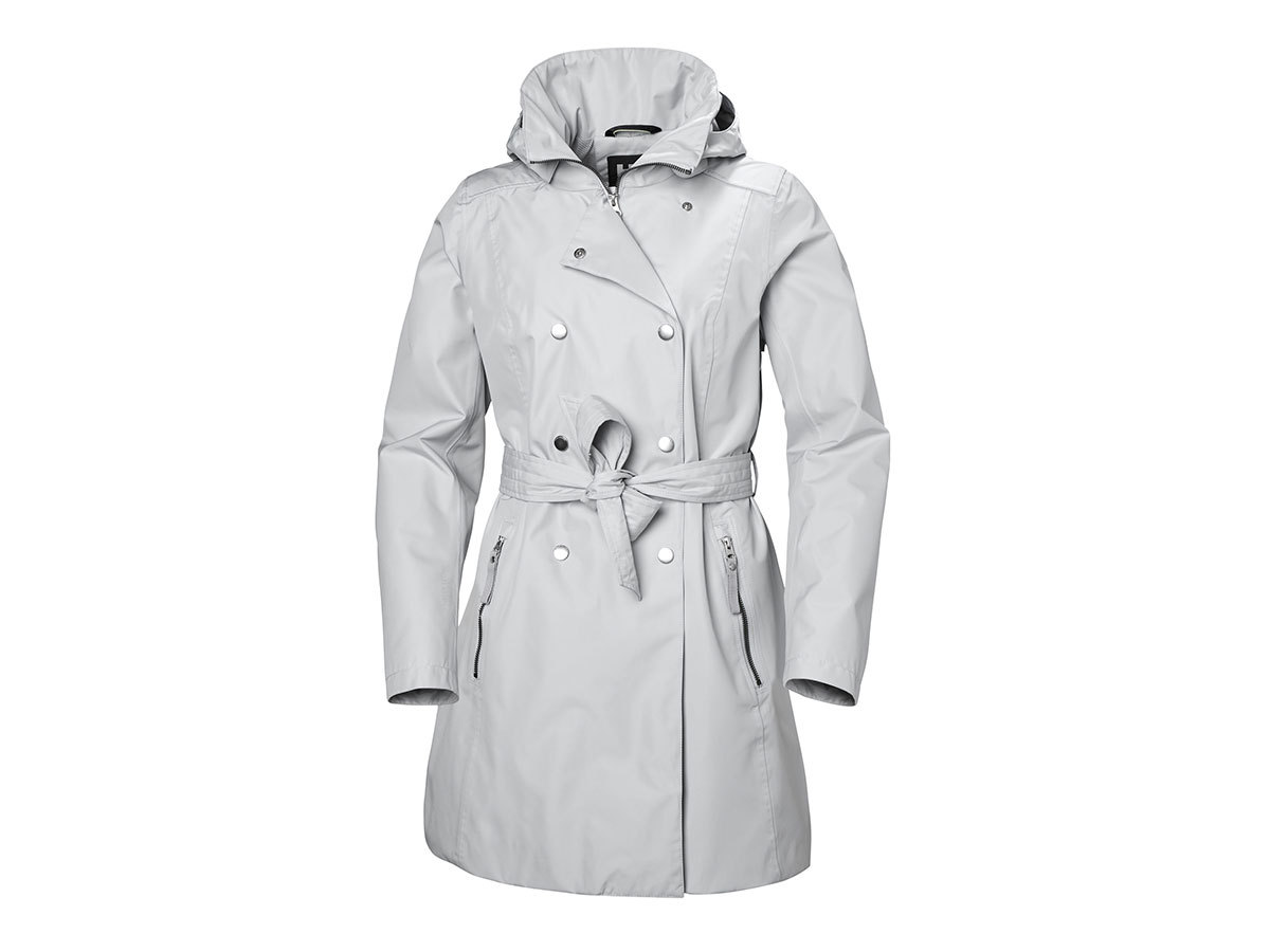 Helly Hansen W WELSEY II TRENCH - GREY FOG - L (53247_853-L )