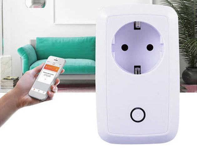 Mobilról vezérelhető okos konnektor - időzíthető, Android és iOS kompatibilis, ingyenes alkalmazással