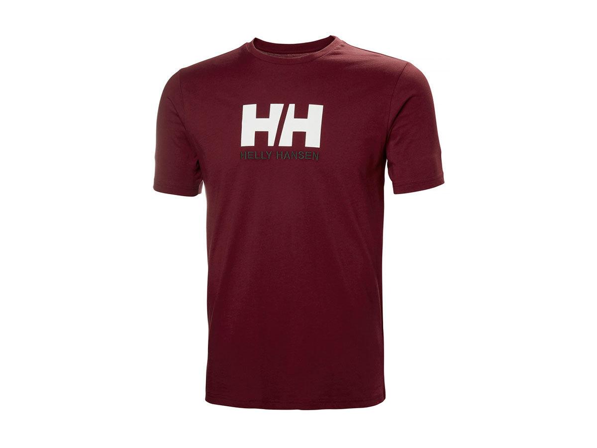 Helly Hansen HH LOGO T-SHIRT - OXBLOOD - XL (33979_215-XL ) - AZONNAL ÁTVEHETŐ
