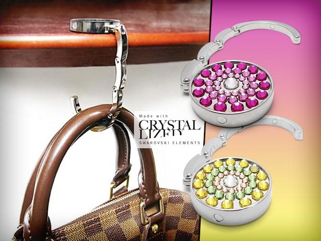 Swarovski kristályokkal díszített táskatartó ékszer választható mintával