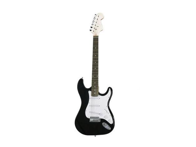 Elektronikus gitár szett kezdőknek, ajándék hangfallal, (HOP1000983-2 fekete-fehér)
