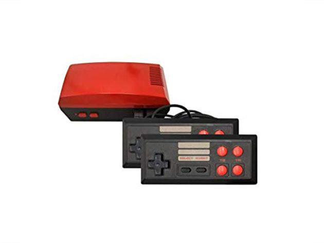 TV-hez csatlakoztatható retro játék konzol, 620 játékkal - fekete piros