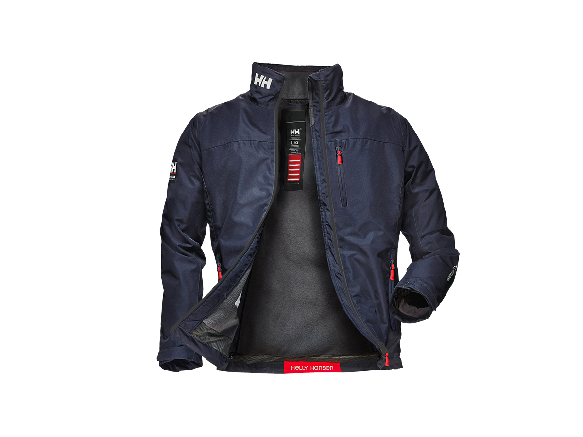 Helly Hansen CREW MIDLAYER JACKET - NAVY - XS (30253_597-XS )