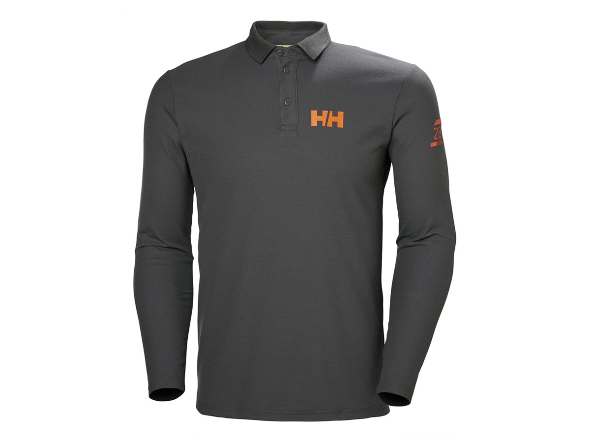Helly Hansen HP SHORE LS POLO - CHARCOAL - S (34123_964-S )