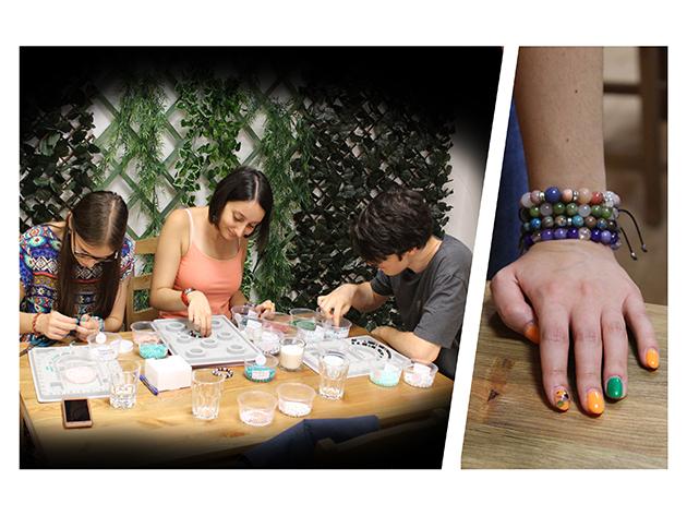 Ásvány gyöngyös karkötő, melyet saját magad készíthetsz el, medálokkal, közölőkkel, összeghatár nélkül / Bracelet Factory