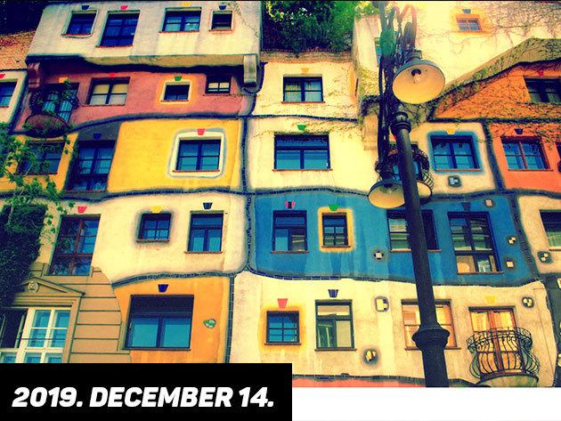 2019. december 14. (szombat) Hundertwasser házai – színek, álmok, rabul ejtő üzenet / fő