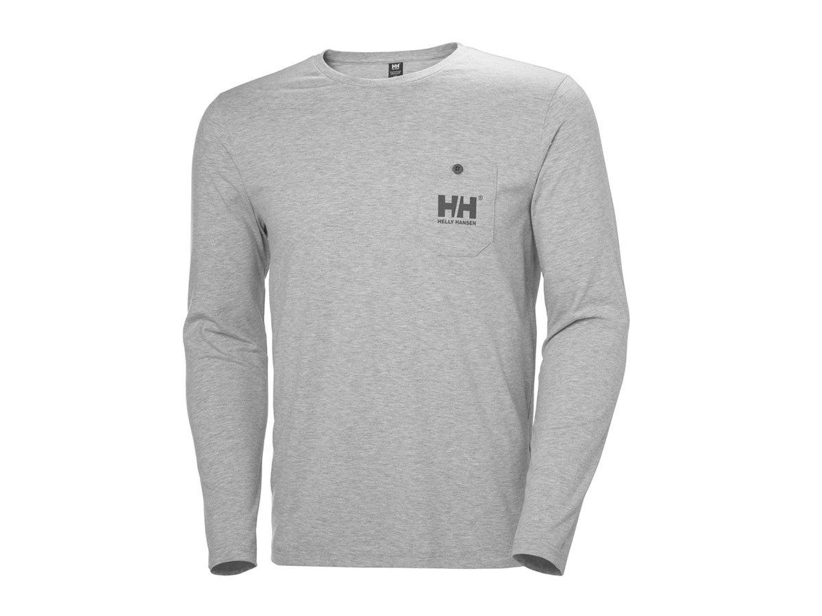 Helly Hansen FJORD LONG SLEEVE - GREY MELANGE - XL (34124_949-XL ) - AZONNAL ÁTVEHETŐ