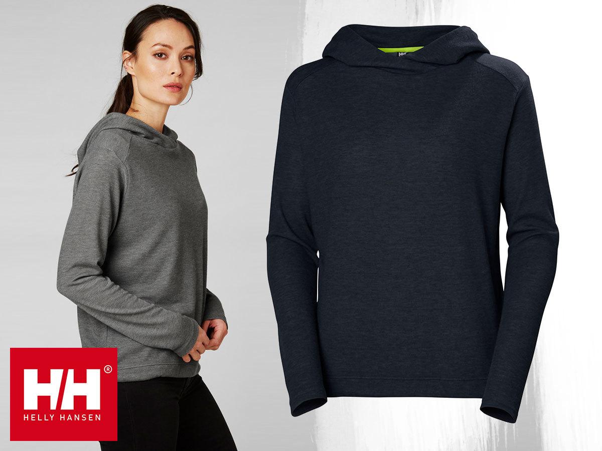 Helly Hansen W SIREN HOODIE kapucnis technikai pulóver nőknek X-Cool gyorsan száraz anyagból (XS-L)