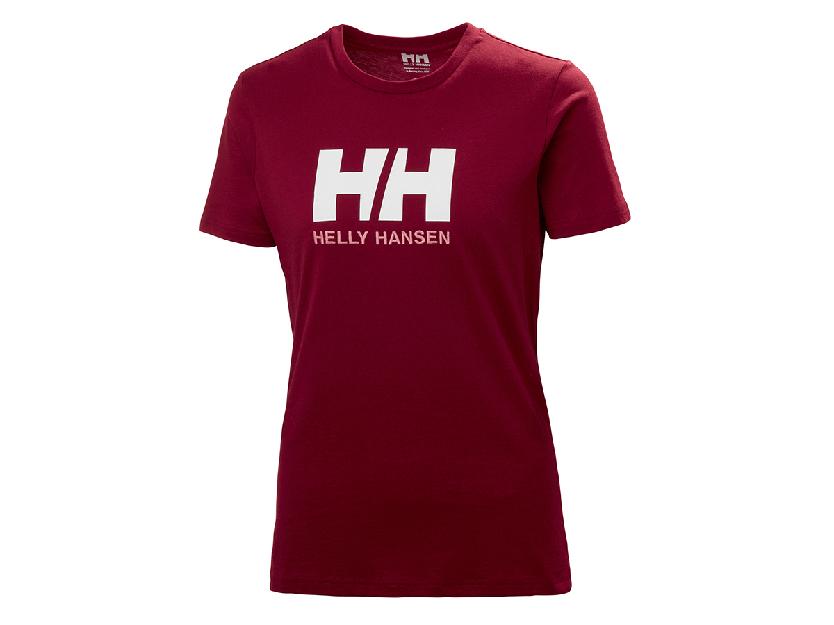Helly Hansen W HH LOGO T-SHIRT - OXBLOOD - XL (34112_215-XL )