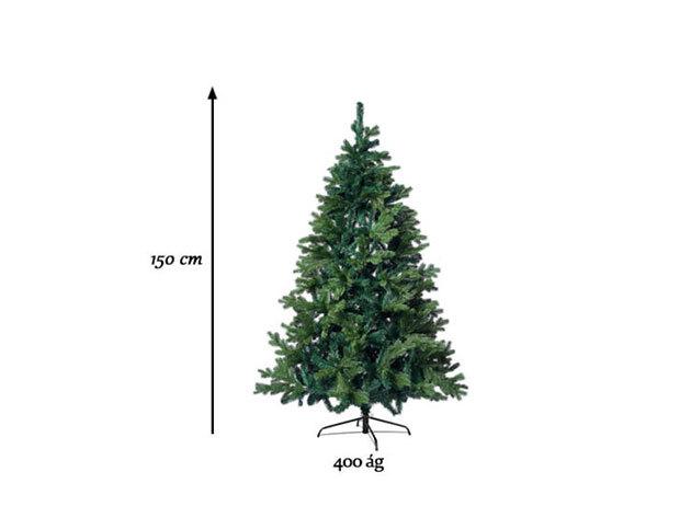 3D műfenyő, 150 cm, 400 ág - HOP1000881-2 - AZONNAL ÁTVEHETŐ