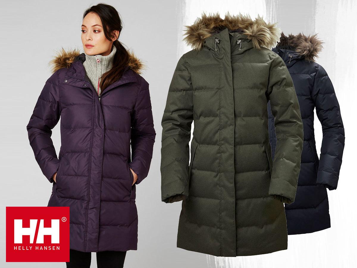 Helly Hansen W ADEN DOWN PARKA hosszabb fazonú női téli kabát kapucnival, pehely töltettel és Helly Tech® Protection külsővel - vízálló, szélálló, lélegző anyag (XS-XL)