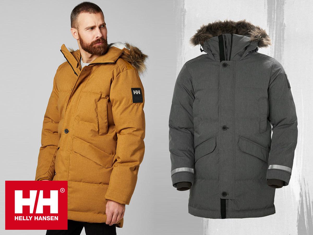 Helly Hansen BARENTS PARKA téli kabát férfiaknak szintetikus béléssel, teljes időjárás elleni védelemmel - a technikai megoldások és a kifinomult stílus találkozása