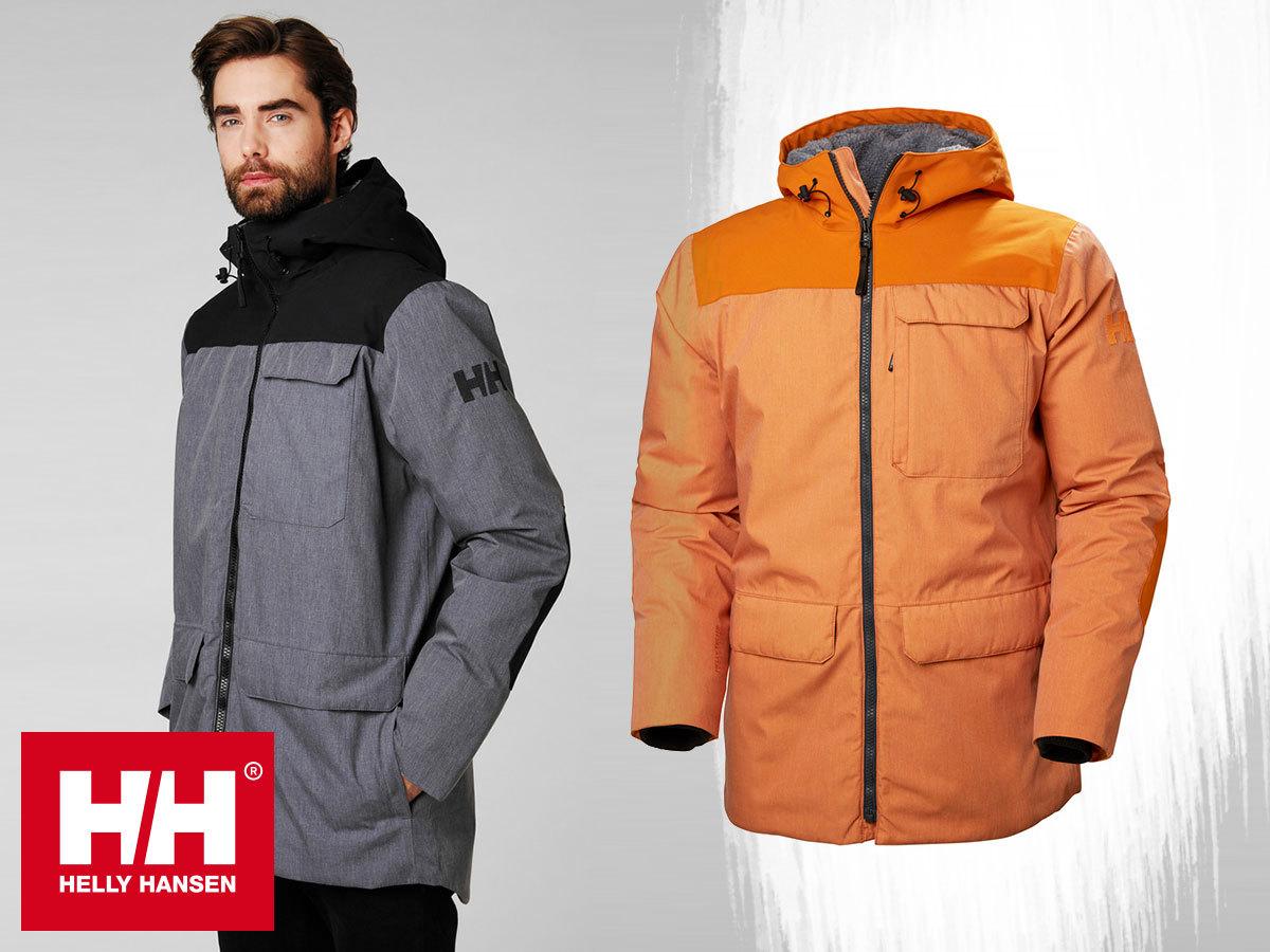 Helly Hansen HUDSON PARKA prémium férfi téli kabát kapucnival, HellyTech® Protection vízálló, szélálló, lélegző anyag, Primaloft® béléssel