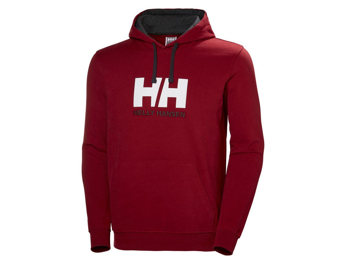 Helly Hansen HH LOGO HOODIE - OXBLOOD - L (33977_215-L ) - AZONNAL ÁTVEHETŐ